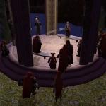 переместившись из уютной пещерки в беседку, зрители раскурили трубочки...